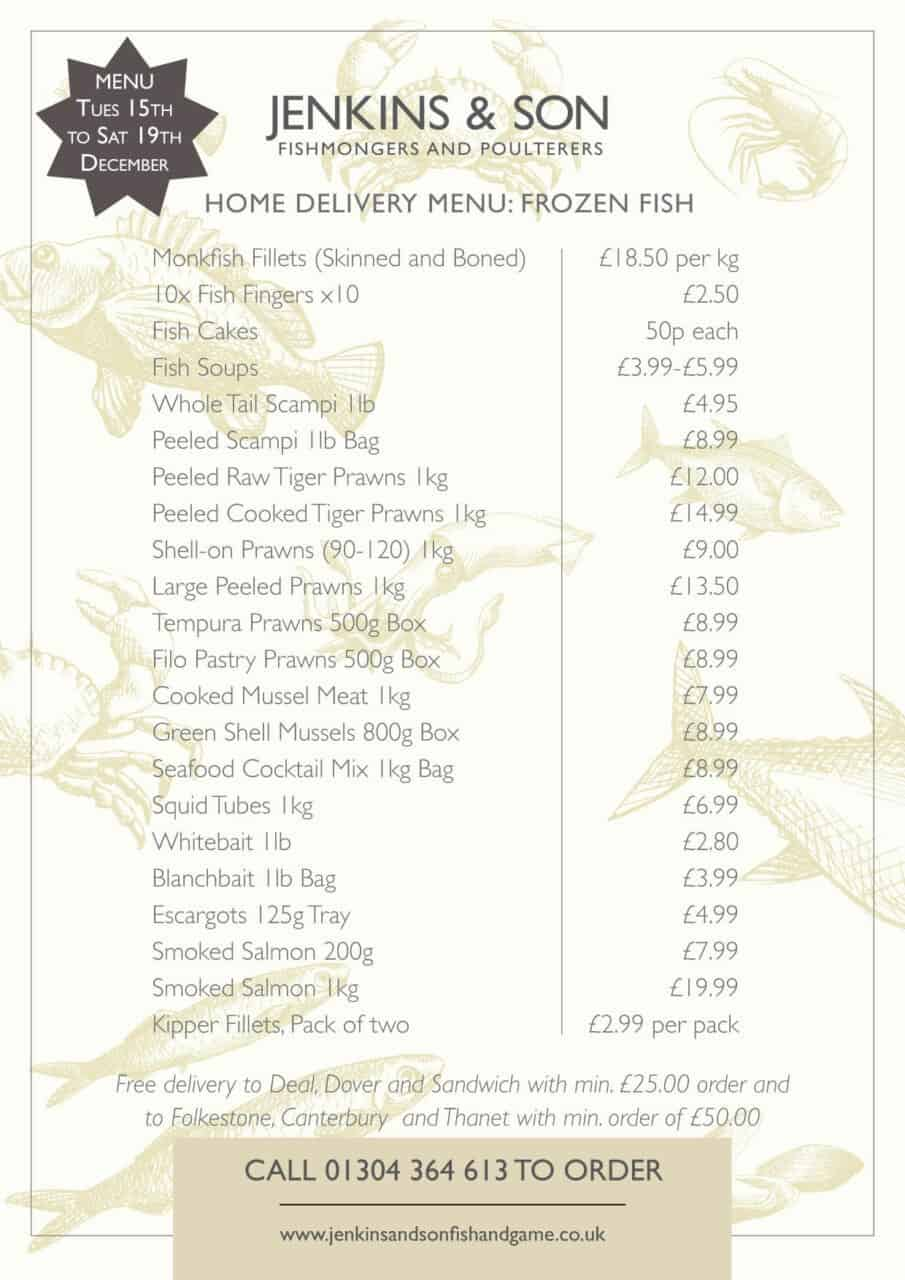 home delivery frozen fish